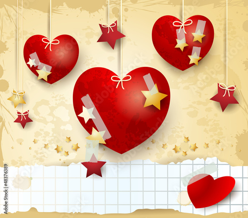 Valentine card with copyspace