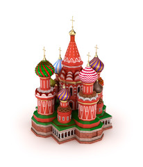 Saint Basil's Cathedral on the Red Square in Moscow, Russia