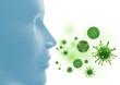 Bakterien, Mikroben und Viren - 3D Illustration