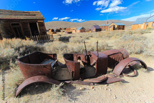 Bodie Ghost Town, Sierra Nevada, California - Old rusty car