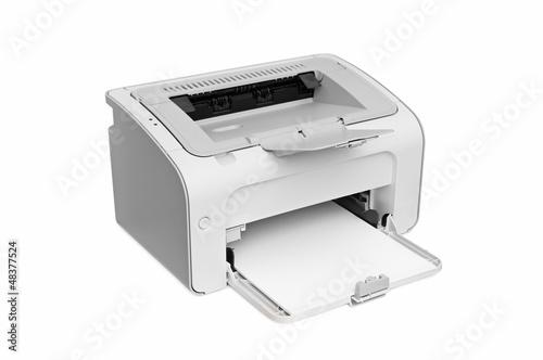Leinwandbild Motiv laser printer isolated on white background