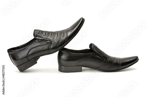 Man's shoes isolated on white background