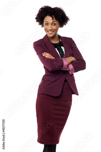 Ambitious female business executive