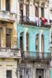 Heruntergekommene Häuserfassade auf Kuba