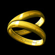 A matching pair of inscribed gold rings