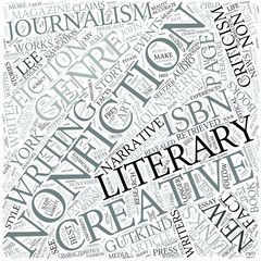 Creative nonfiction Disciplines Concept
