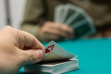 Poker, juego de azar, cartas.