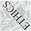 Applied ethics Disciplines Concept