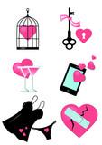 Valentine day clipart set
