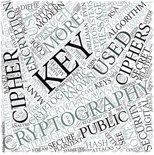 Cryptography Disciplines Concept