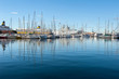 Sail boats in Toulon port, France.