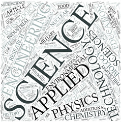 Applied science Disciplines Concept