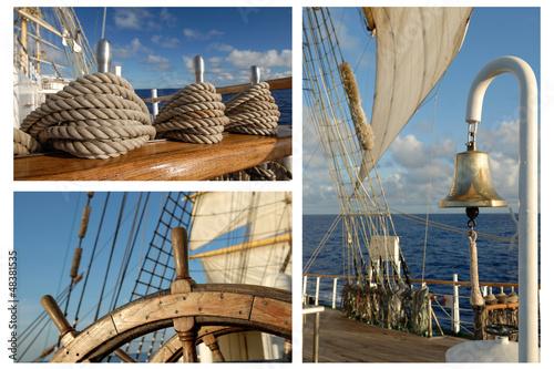 Fototapeta Romantic Travel, Sailing Frigate, Tall ships