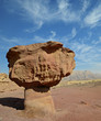 Mushroom is a stone formation in Timna Park, Israel