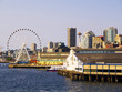 City Skyline of Seattle Washington USA