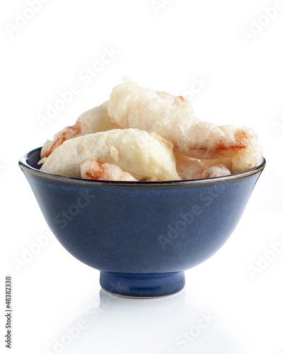 Bowl of tempura shrimp