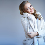 Beautiful woman in winter fashion