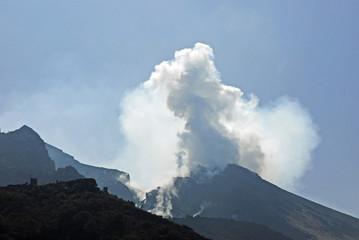 Eruptionen am Stromboli