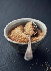Brown sugar in a ceramic bowl