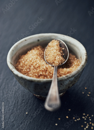 Brown sugar in a ceramic bowl