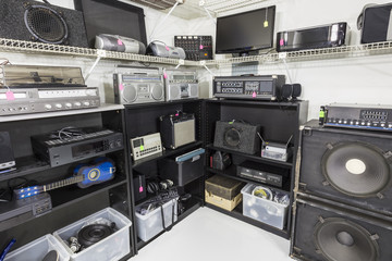 Interior Music and Electronics Store