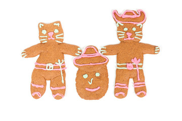Puss in Boots gingerbread cookie