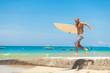 jumping surfer