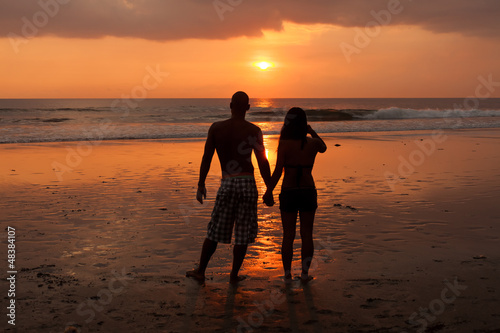 couple at sunet