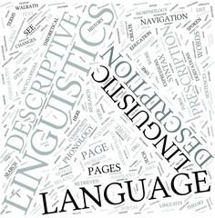Descriptive linguistics Disciplines Concept