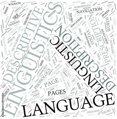 Descriptive linguistics Disciplines Concept
