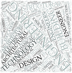 Architectural engineering Disciplines Concept