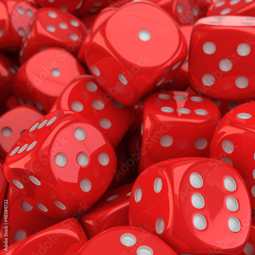 Red dice background