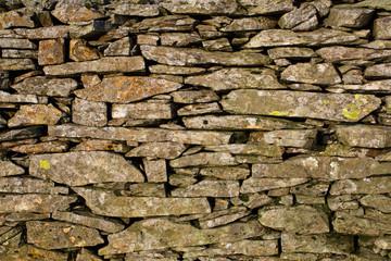 Dry stone wall