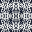 white lace on navy blue vector geometrical pattern