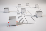 Fototapety Networking concept