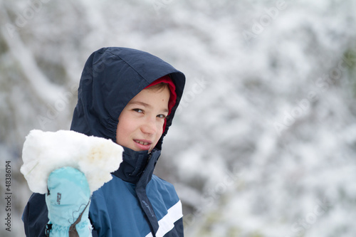 Young child in winter