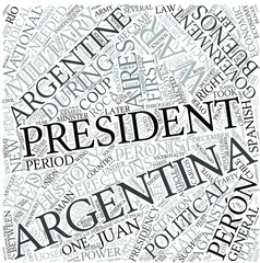 Argentine history Disciplines Concept