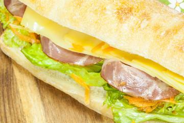 Big sandwich, prosciutto sandwich