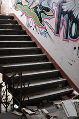 Graffiti im Treppenhaus