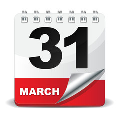 31 MARCH ICON
