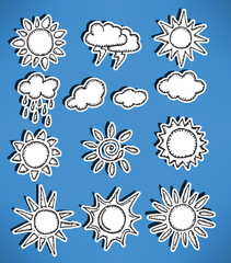 Hand-drawn icons - Weather
