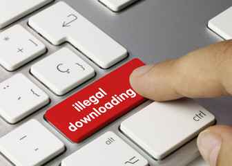 illegal downloading keyboard key. Finger