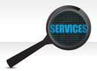 Services under review concept illustration design