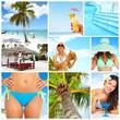 Exotic luxury resort collage.