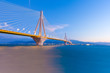 Greece Rio Bridge, a Suspension bridge crossing Rio and Antirio.