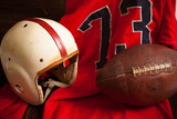 Antique American Football Equipment