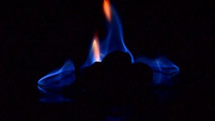 Hitze in blau
