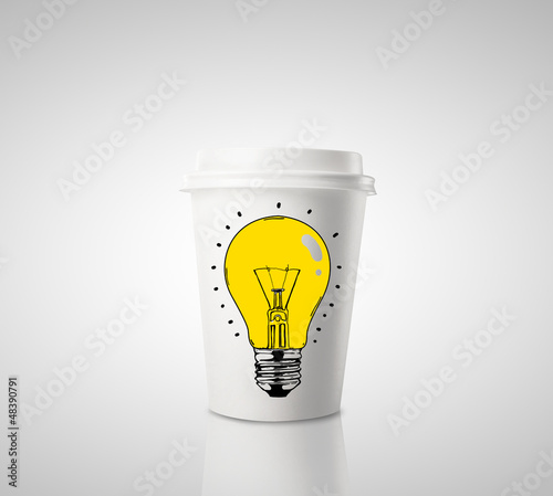coffee and drawing lamp