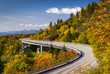 Leinwandbild Motiv Blue Ridge Parkway Linn Cove Viaduct North Carolina Appalachian