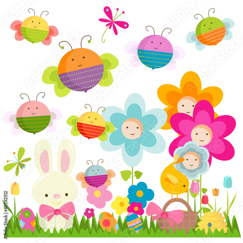 In de dag Vlinders easter background